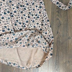 LOFT Dresses - Loft Blush Floral Dress Size Small